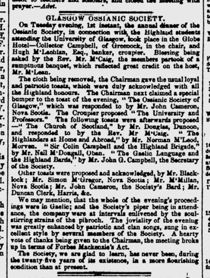 1856_04_14 pg 10 Ossianic Annual