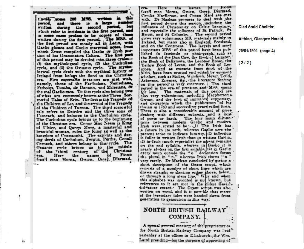 1901_01_25 (pg 4) Mag_Mclean_lecture_Ciad Oraid Cheiltis ( 2 a 2)