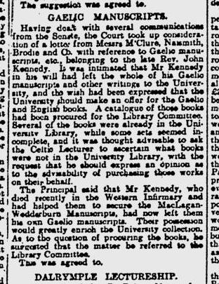 1910_06_08_pg_10 Rev J Kennedy's Gaelic MSS