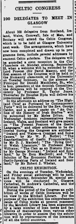 1929_09_16_pg_25 Celtic Congress 100 delegates