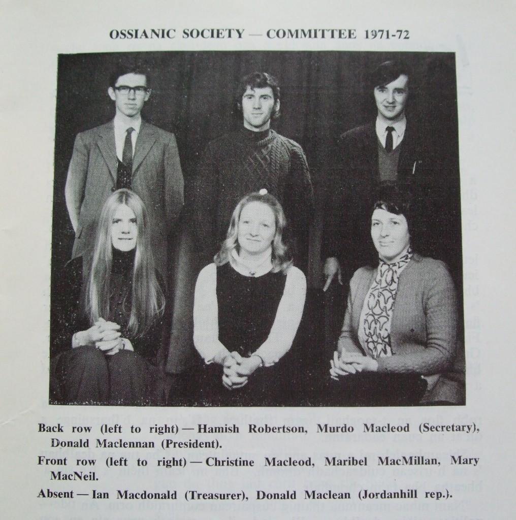 Ossian 1972 - 07 buill comataidh dealbh