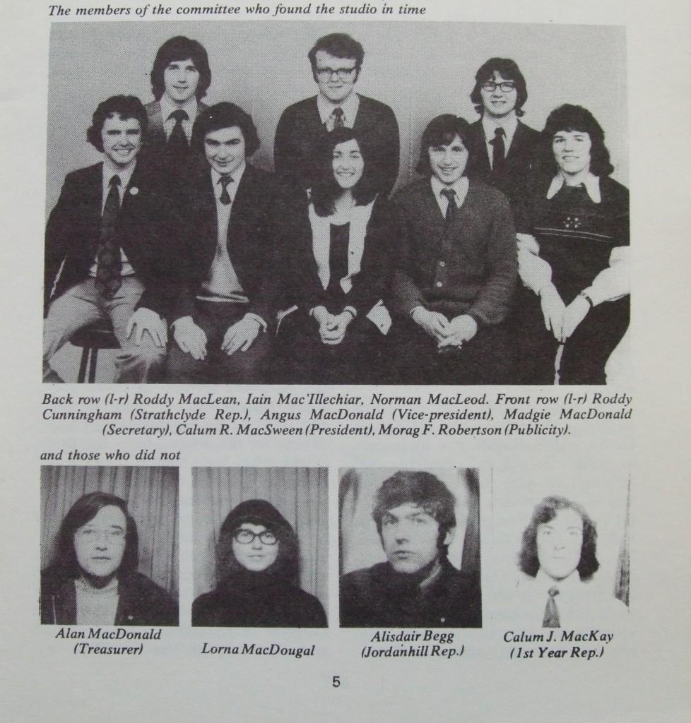 Ossian 1974 - 05 buill comataidh