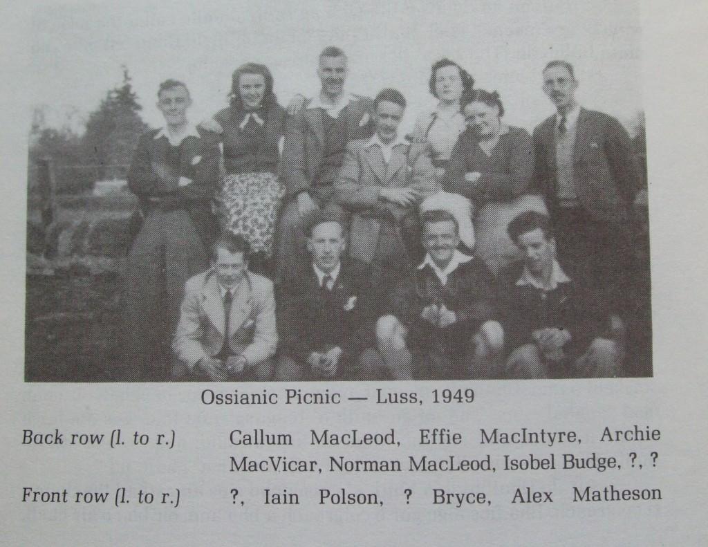 Ossian 1980 - 42  Ossianic picnic 1949 - dealbh