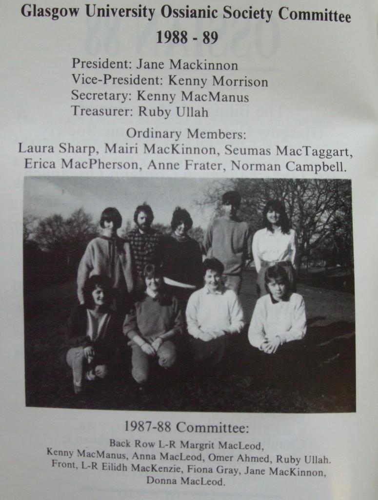 Ossian 1988 - 02 buill comataidh - dealbh