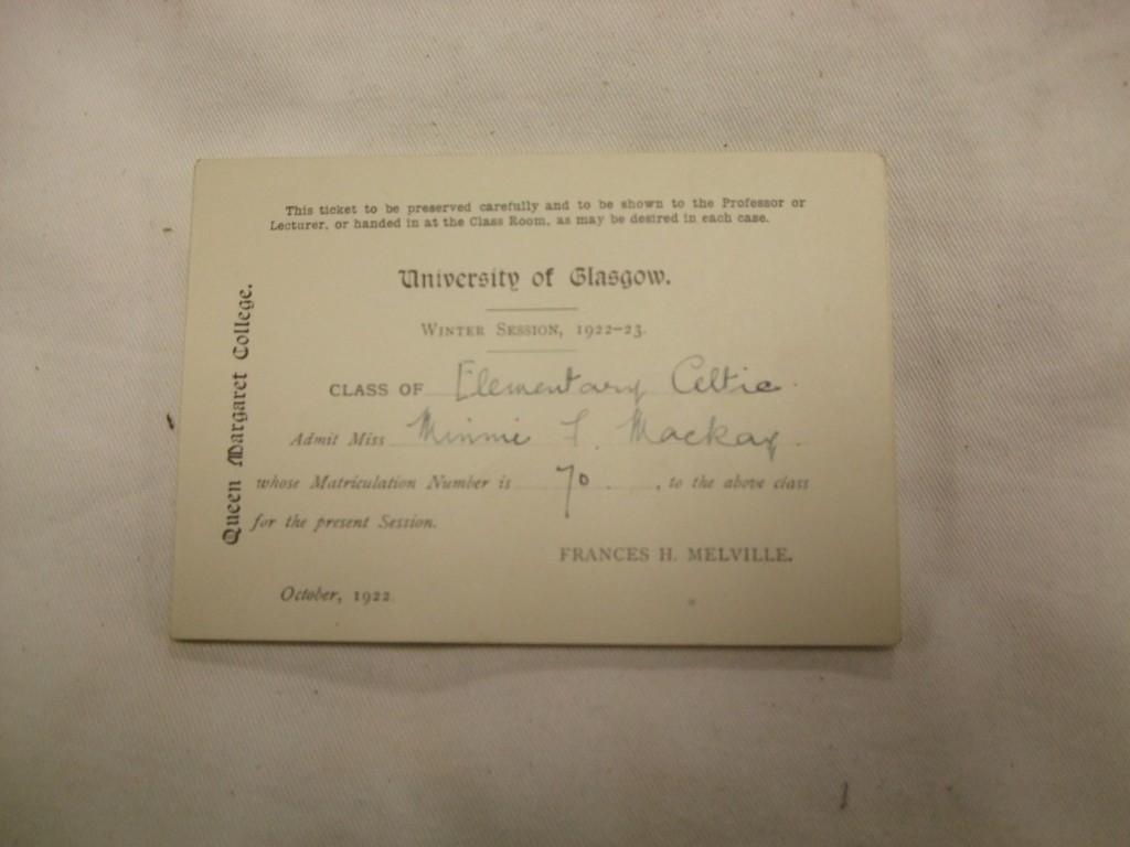 UGC 202_1_4_1 Minnie Elem Gaelic class tkt 1922