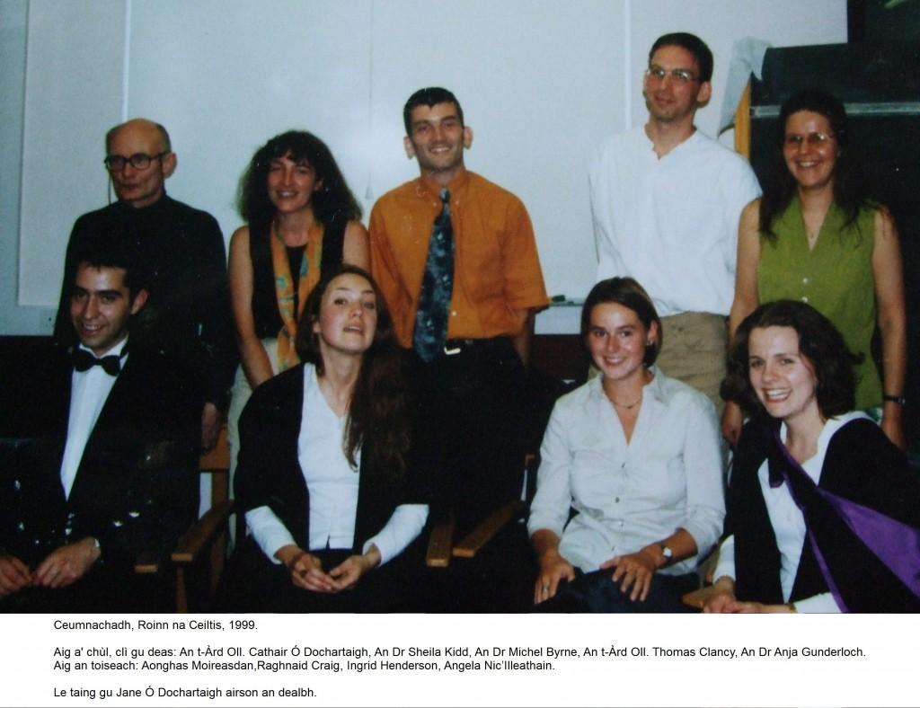 Ceumnachadh 1999 (le ainmean)