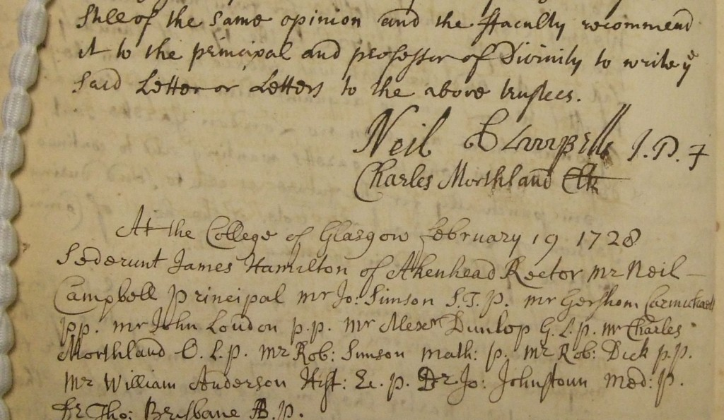 GUA 26635_28 - 1st signature Princl N Cmpbll Faclty mins 1728