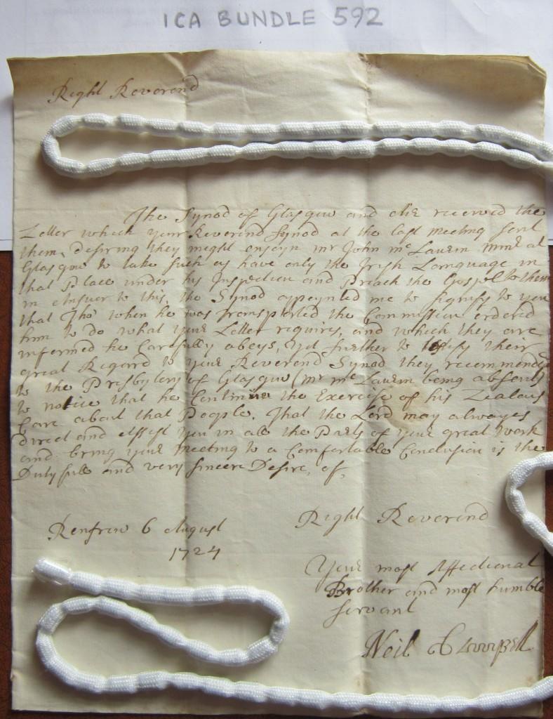 ICA Bundle 592_Rev Neil Campbell Renfrew 1724