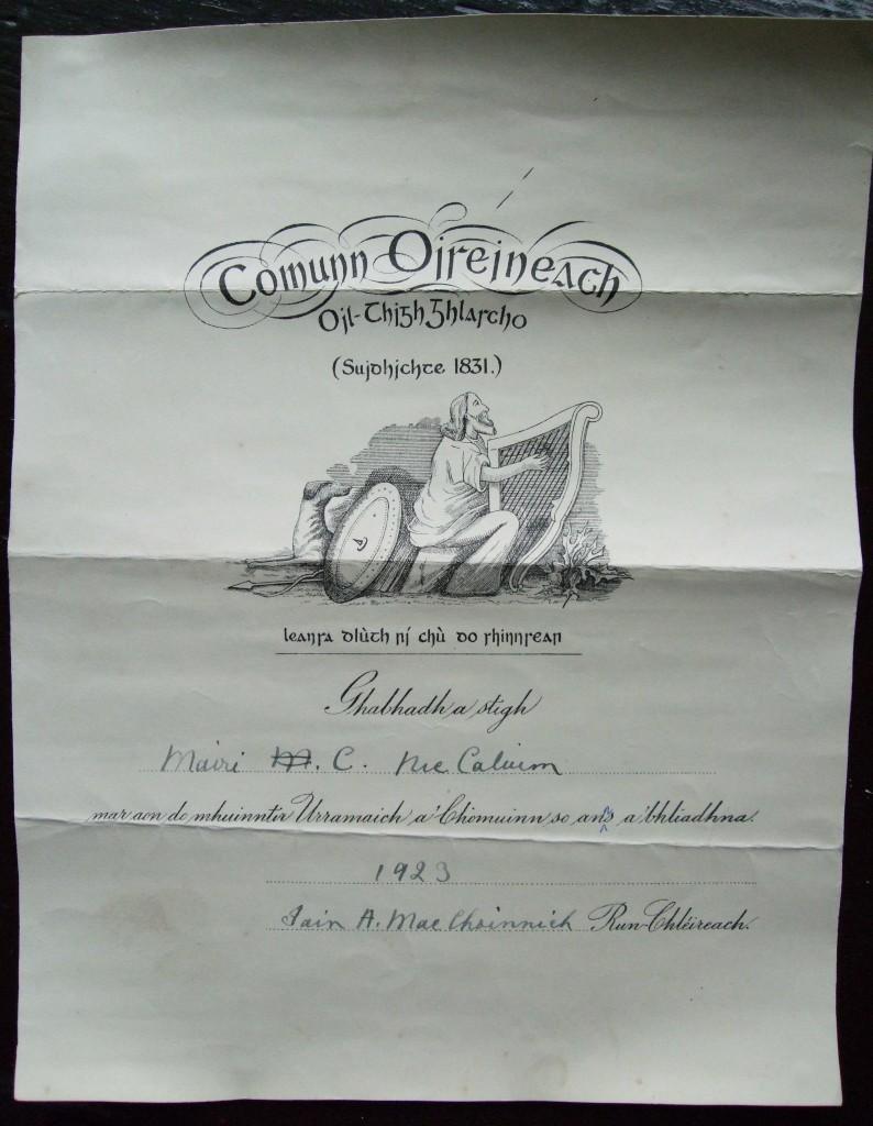 Mary C NicCaluim ball urramach Com Ois 1923 (1)